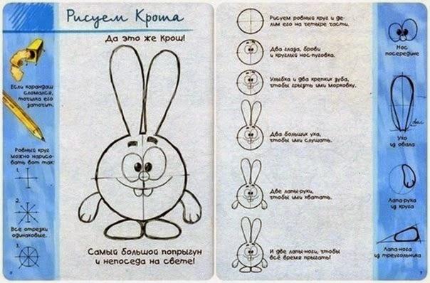 Урок, как рисовать героев мультфильма Смешарики