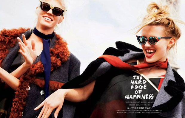 Девон Виндзор (Devon Windsor) и Наталья Сиодмак (Natalia Siodmiak) в журнале Vogue Japan