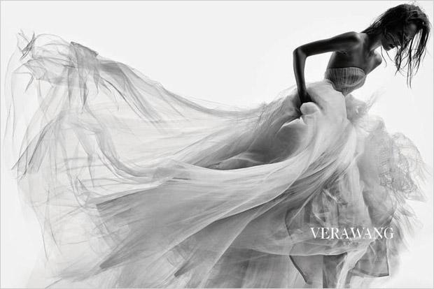 Жозефин Ле Тутур (Josephine Le Tutour) в рекламной фотосессии для Vera Wang Bridal