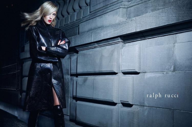 Аня Рубик в фотосессии для Ralph Rucci