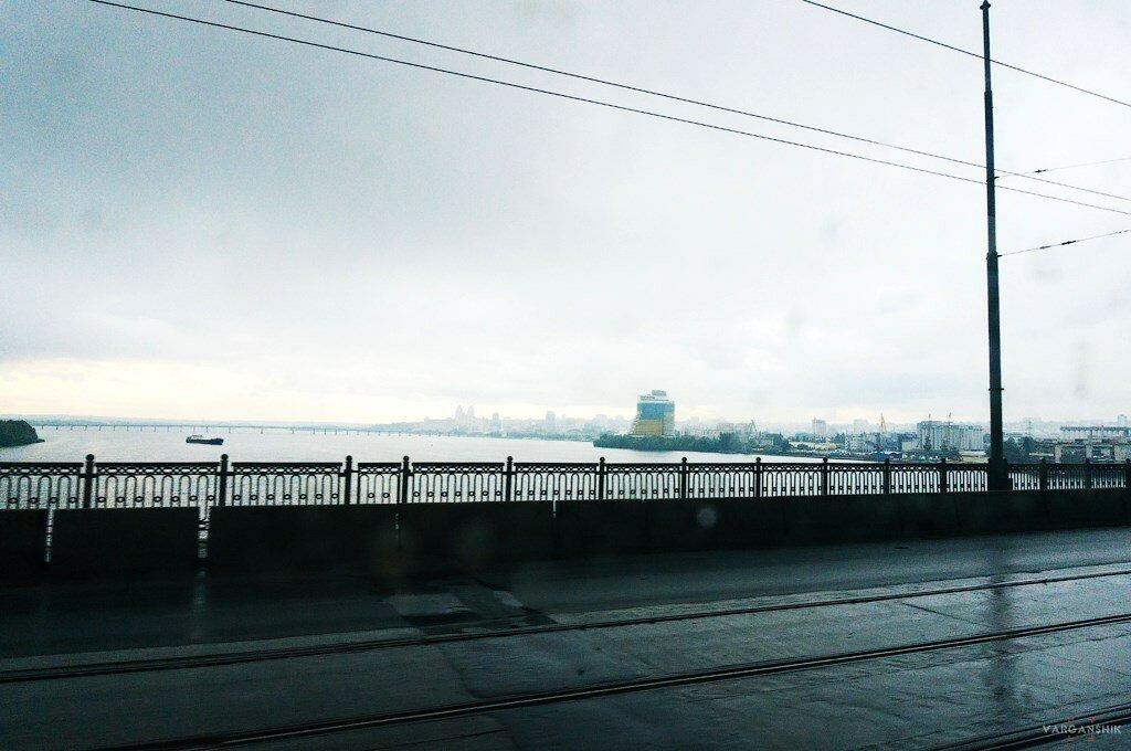 Днепропетровск Новый Мост дождь Варганщик