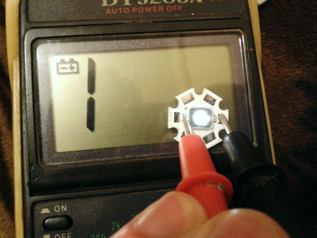 Проверка светодиода перед подключением