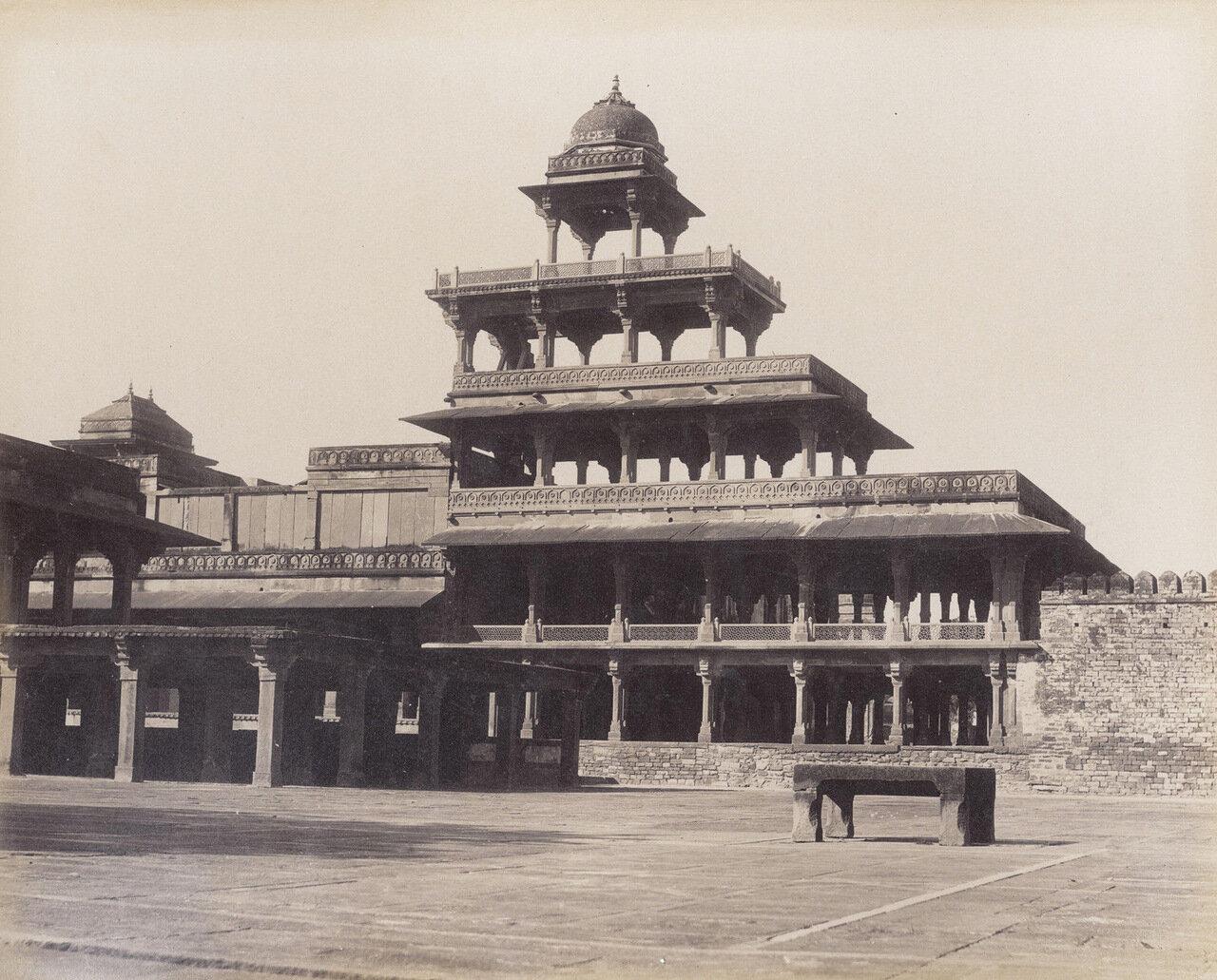 Фатехпур Сикри. Пятиэтажный Панч-Махал. 1880