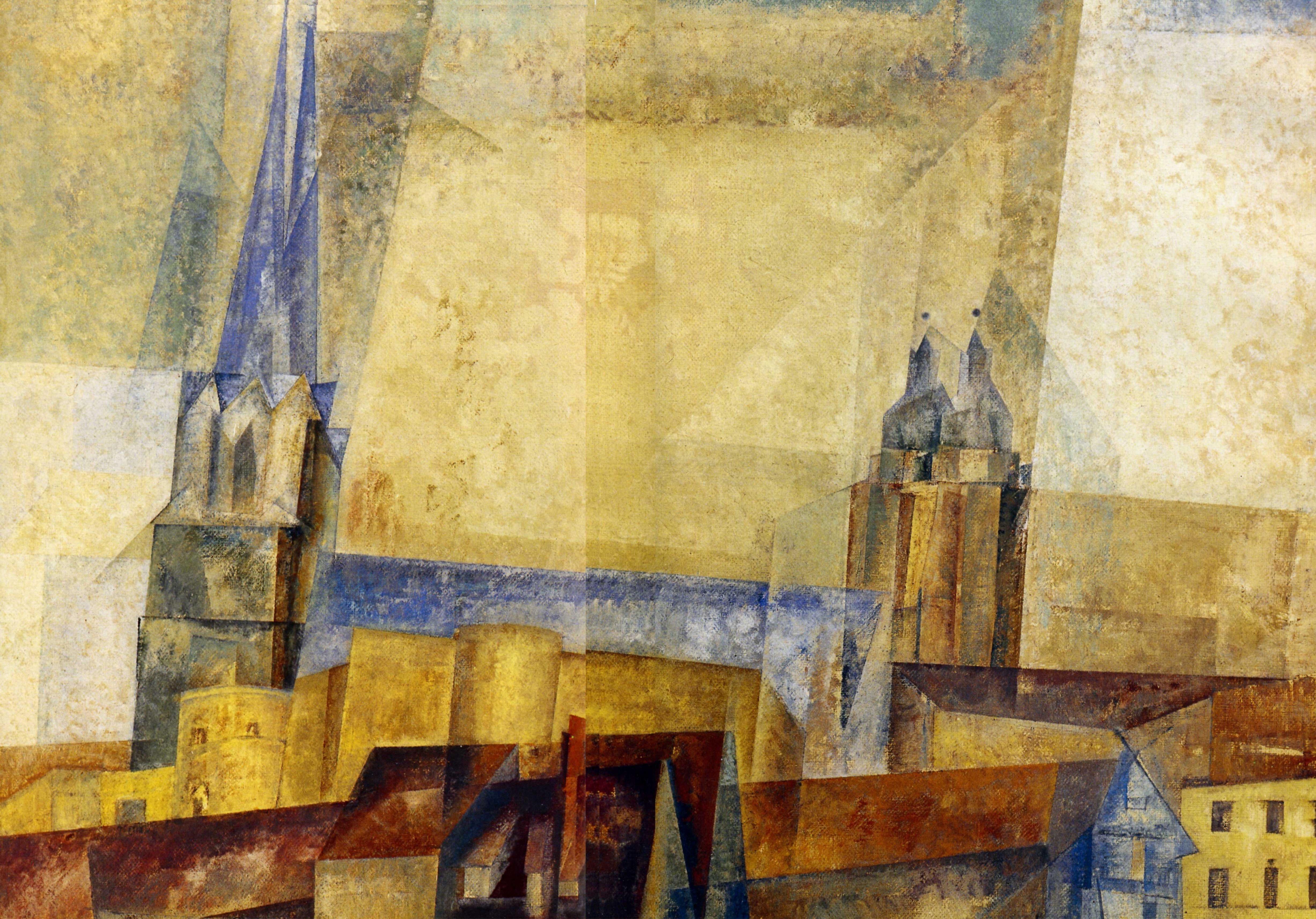 Лионель Фейнингер. Башня над городом, Нотр-Дам.1931