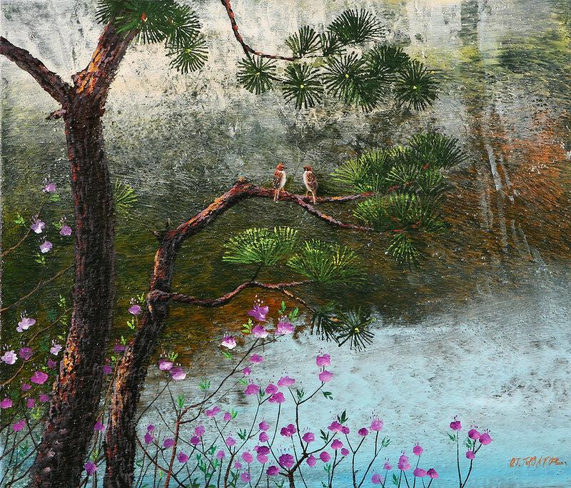 Куда вода течет, туда и рыба плывет. Корейский художник Chung Soo Youn