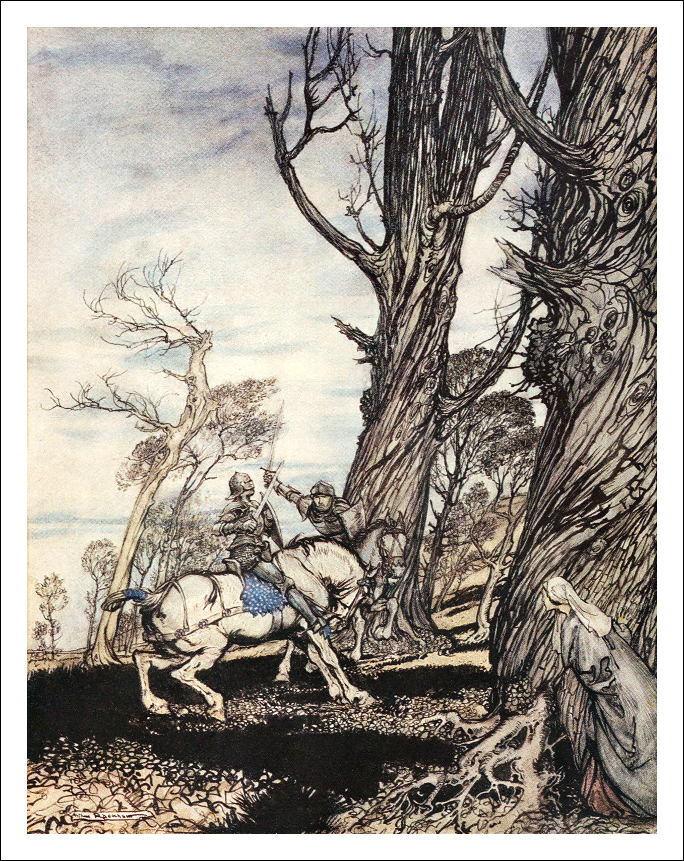 Arthur Rackham, The romance of King Arthur and his knights of the Round Table