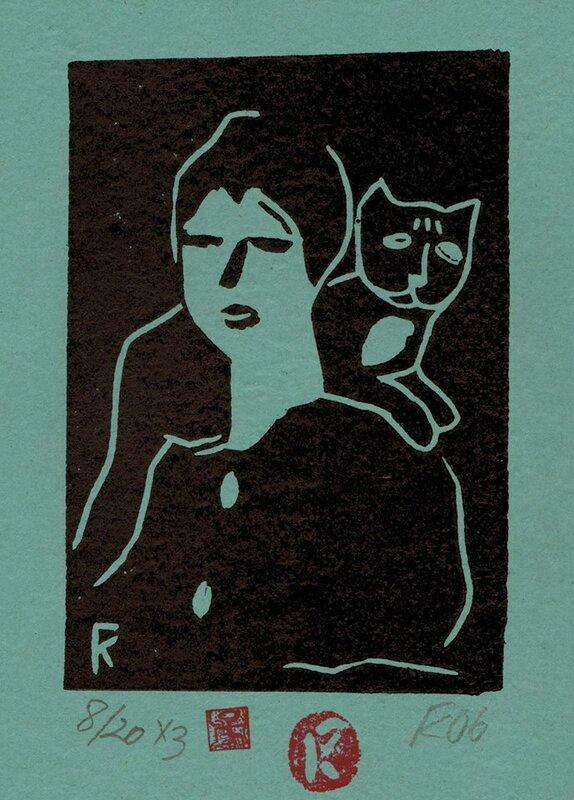 Женщина с котом.