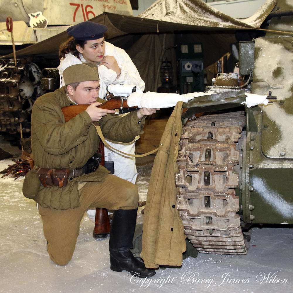 Солдаты Советской Армии в британских реконструкциях сражений 2-й мировой войны (10)