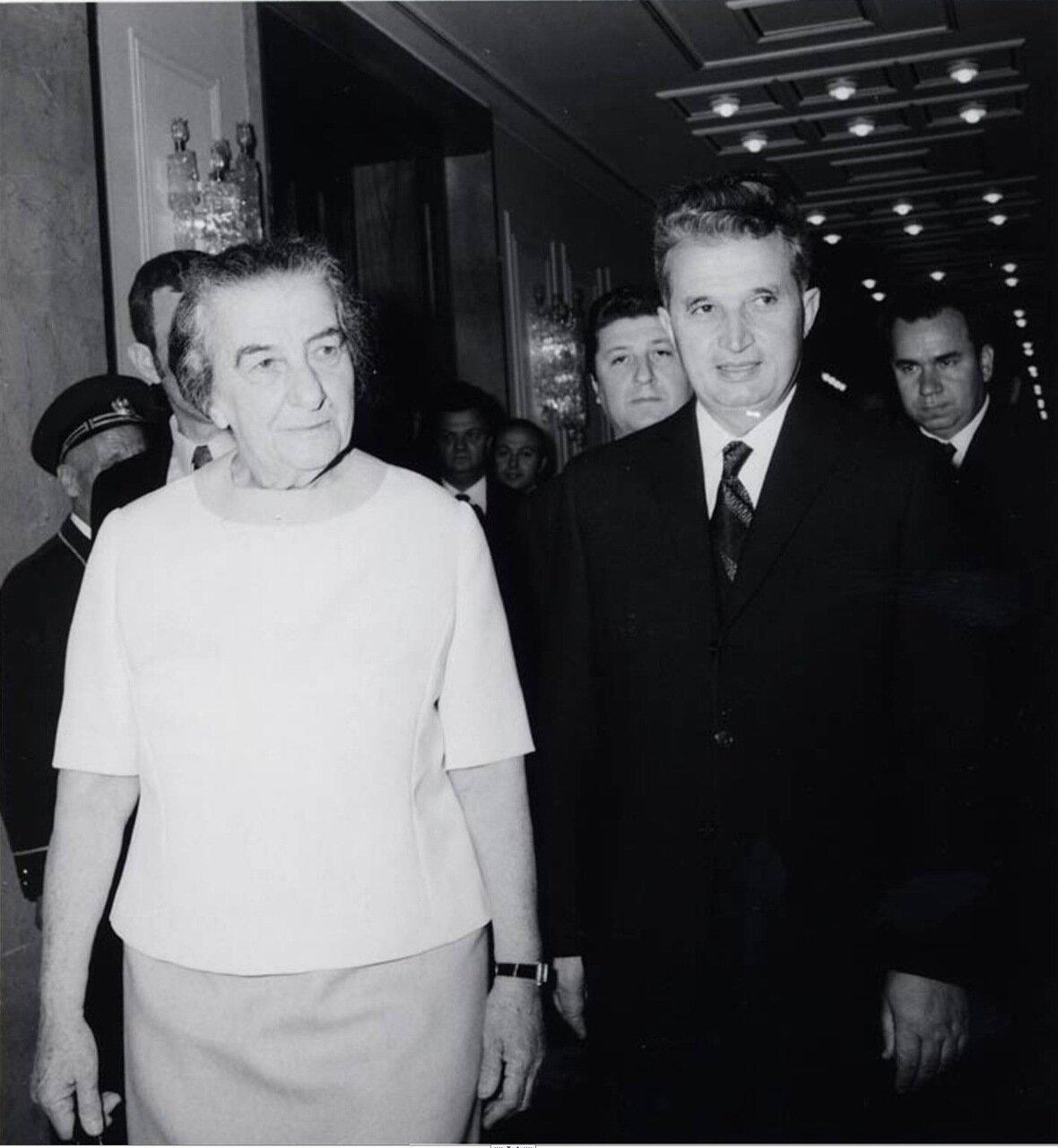 1972.  Голда Меир и Николае Чаушеску