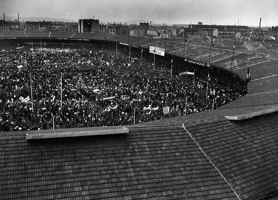 1949. Митинг движения за мир, стадион Буффало, Монруж