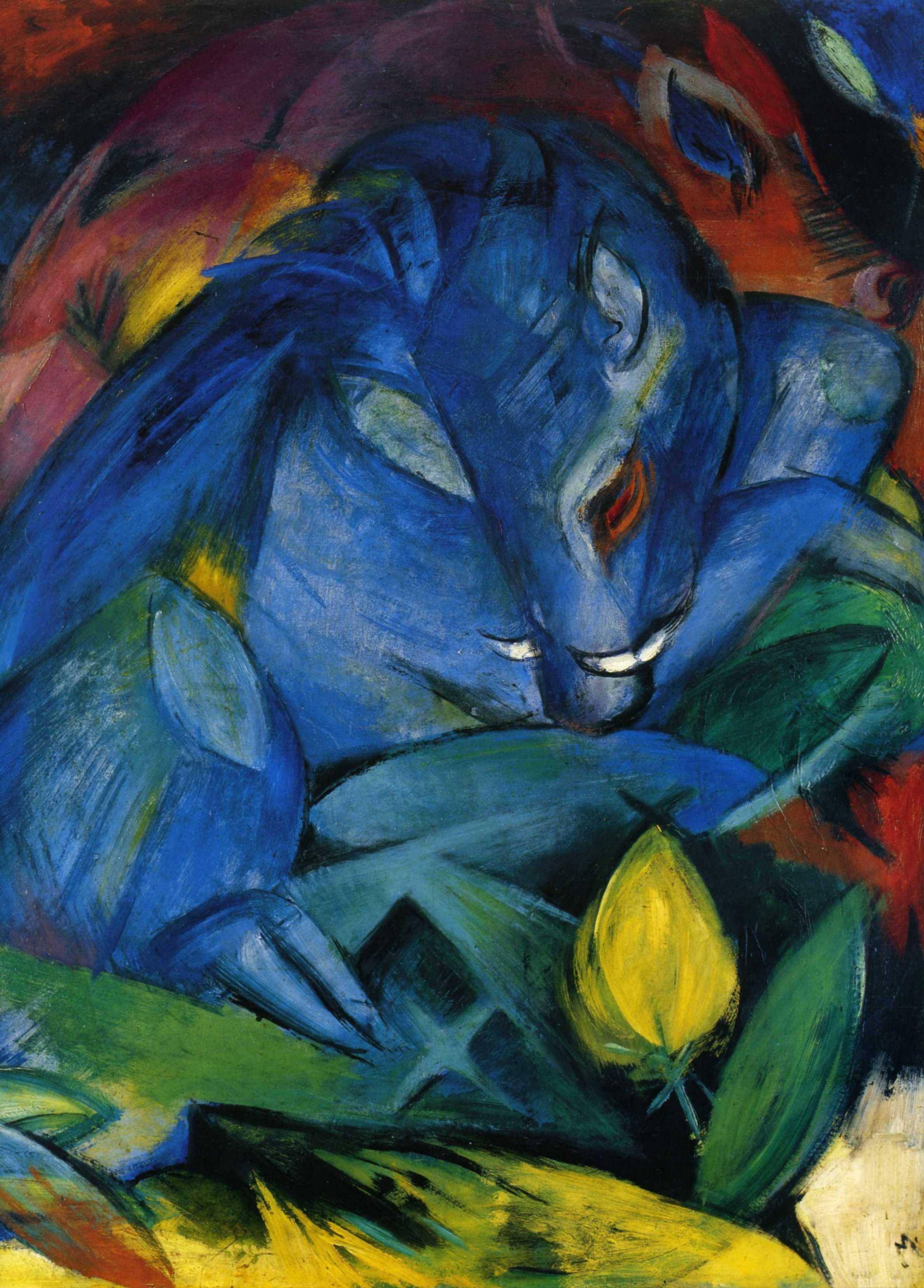 Франц Марк (1880  — 1916) — немецкий живописец, яркий представитель немецкого экспрессионизма. 1912. «Дикие свиньи»