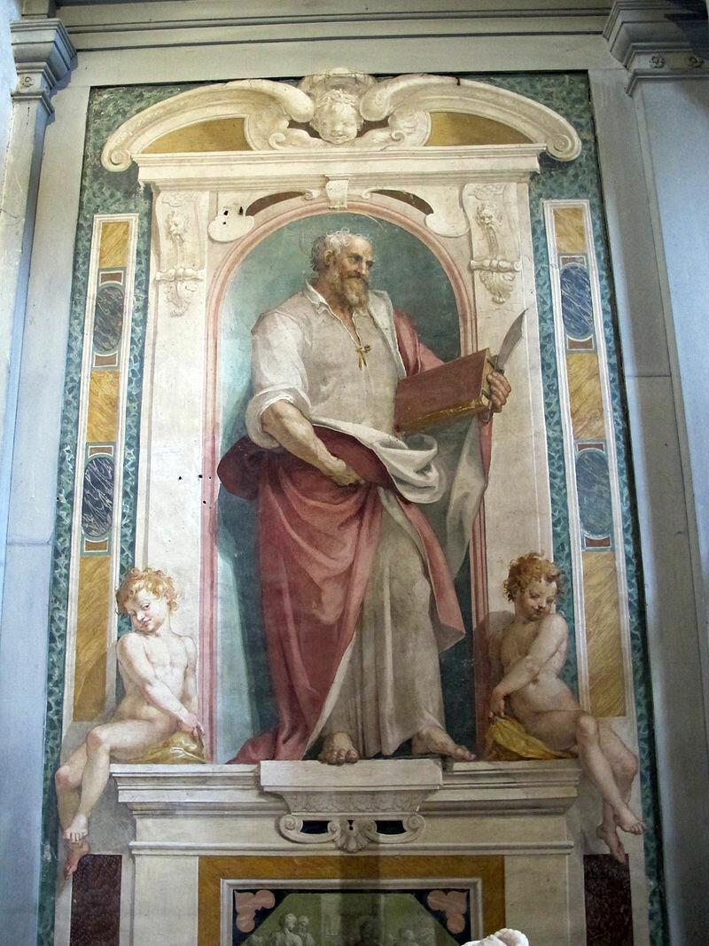 San_bartolomeo_a_monte_oliveto,_int_,_controfacciata,_affreschi_del_poccetti,_1606,_04_san_bartolomeo_01.JPG