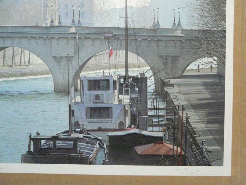 Les péniches du quais des Orfèvres (Travail en cours)