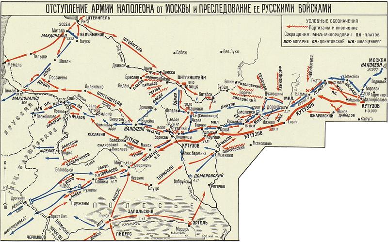 Отступление армии Наполеона от Москвы