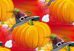 Halloween Pumpkin with Ray Background Vector Illustration.jpg