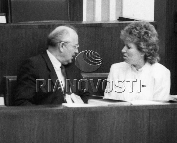 Mikhail Gorbachev Talks with Valentina Matviyenko