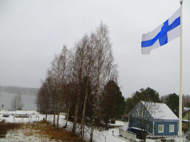Флаг 6 декабря День Независимости Финляндии
