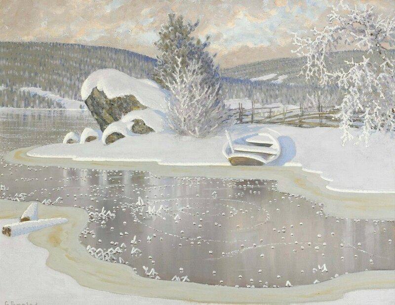 Gustaf Fjaestad. Иней на льду.jpg