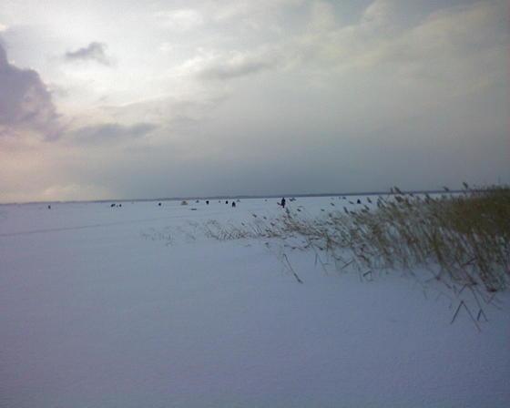 Озеро Шаблиш зимним утром