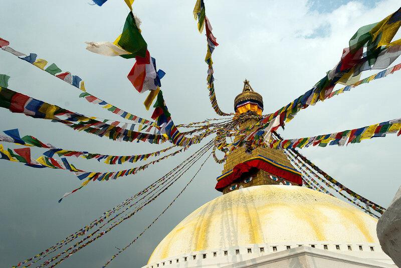 Ступа Бодднатх, молитвенные флажки