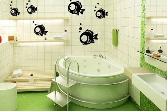 Как украсить стены в ванной своими рук