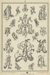 Книга Альбом монограмм для метки белья, гравирования, резьбы, штампования, выпиливания, отливки, чеканки и прочих