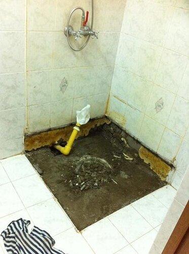 Подготовлен плацдарм для установки ванны