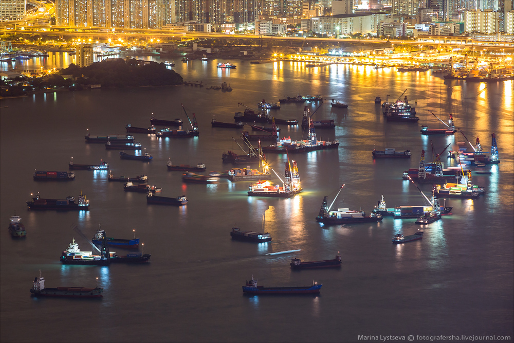 Ночной Гонконг