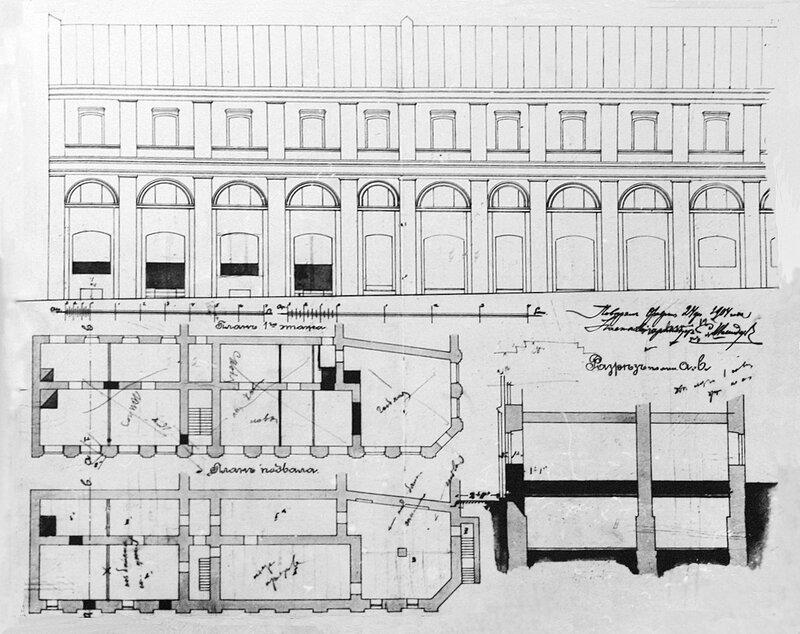 Фасад и план дома Ярошенко. 1904 год.