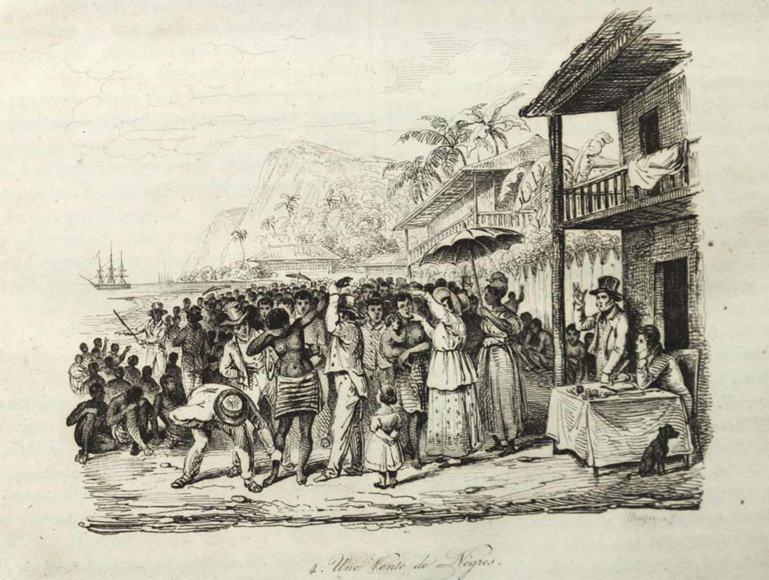 Аукцион по продаже рабов на Мартинике (1826 год)