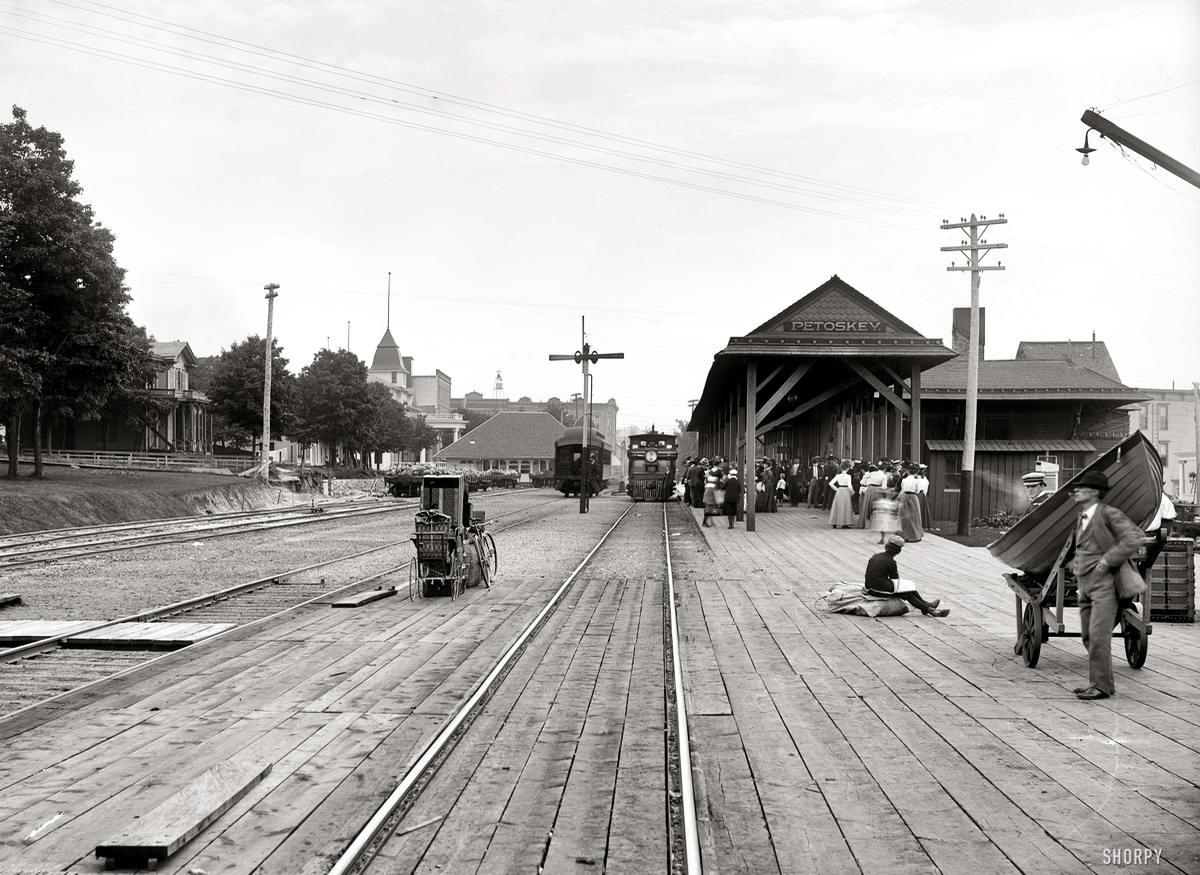 Железные дороги конца 19-го - начала 20-го века на снимках американских фотографов (32)