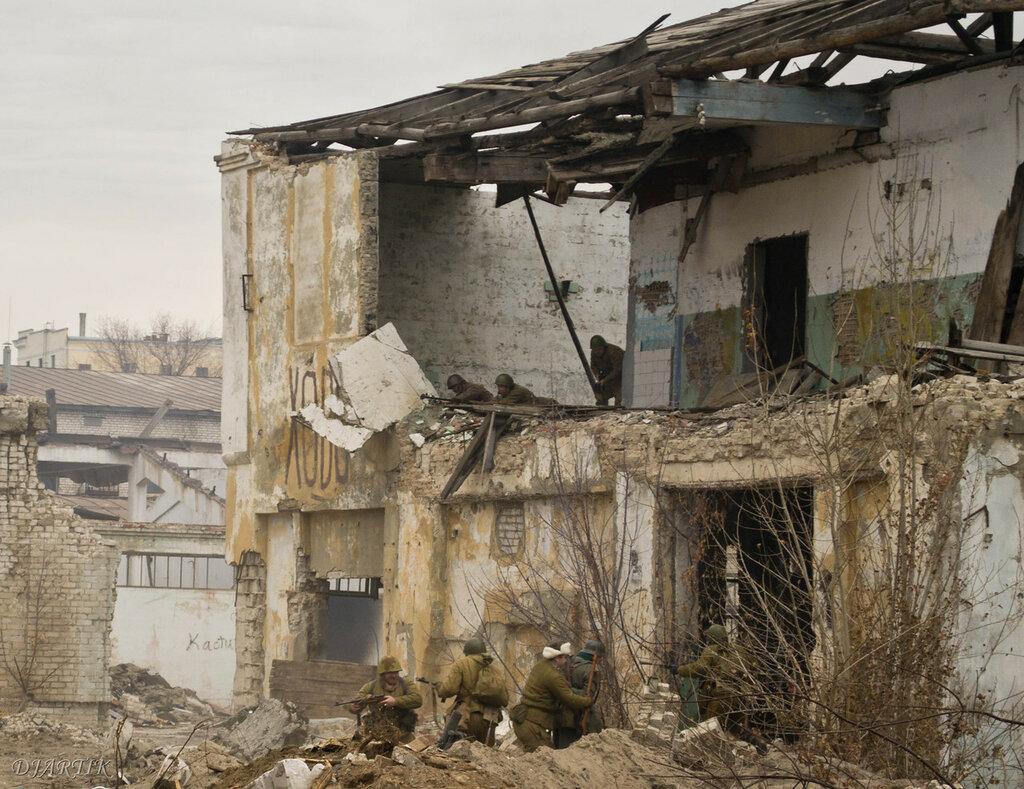 Военная реконструкция на бывшем консервном заводе 30.11.14