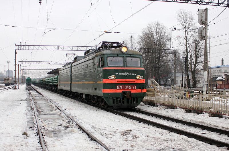 ВЛ10у-571 на станции Кушелевка