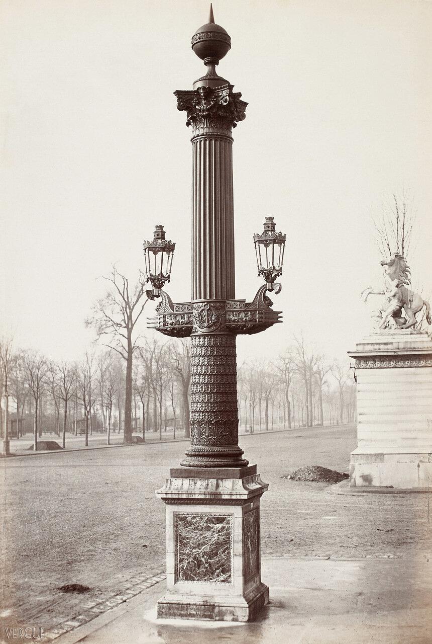 Ростральные колонна. 1865