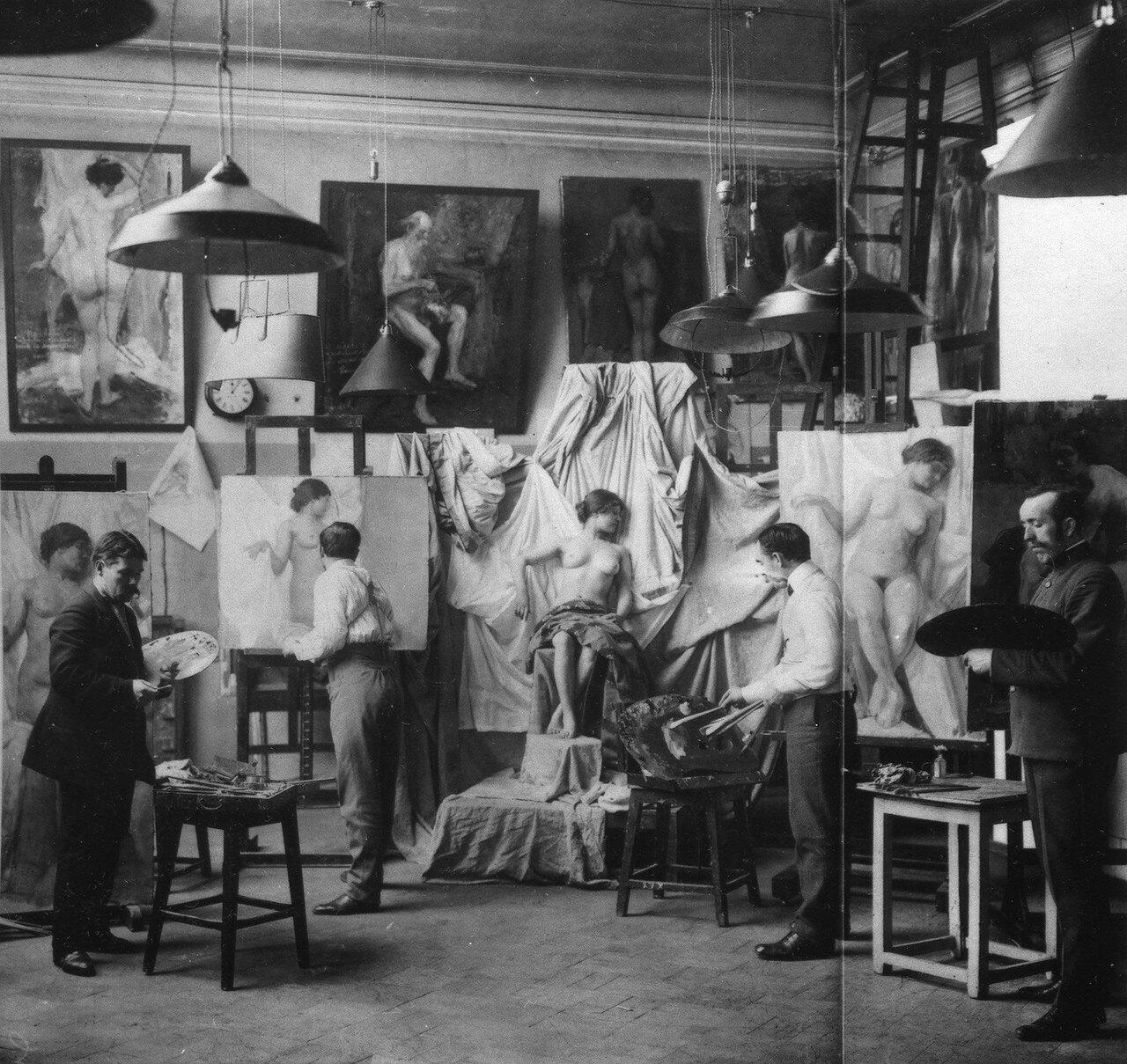 Класс живописи в Императорской Академии художеств