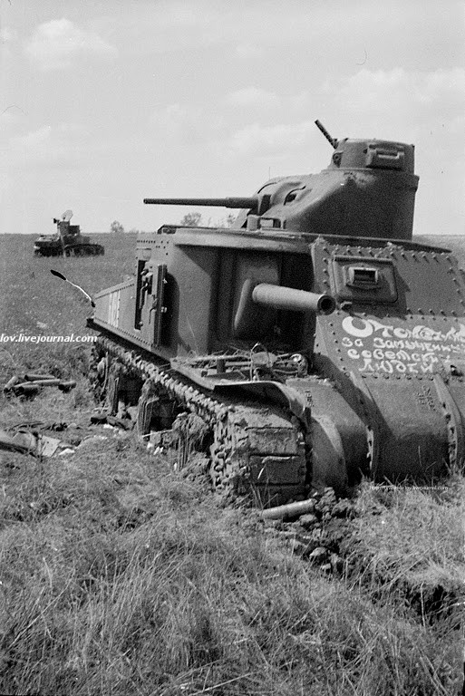 Брошенный танк М3с из 192-й тбр. 1942 год.