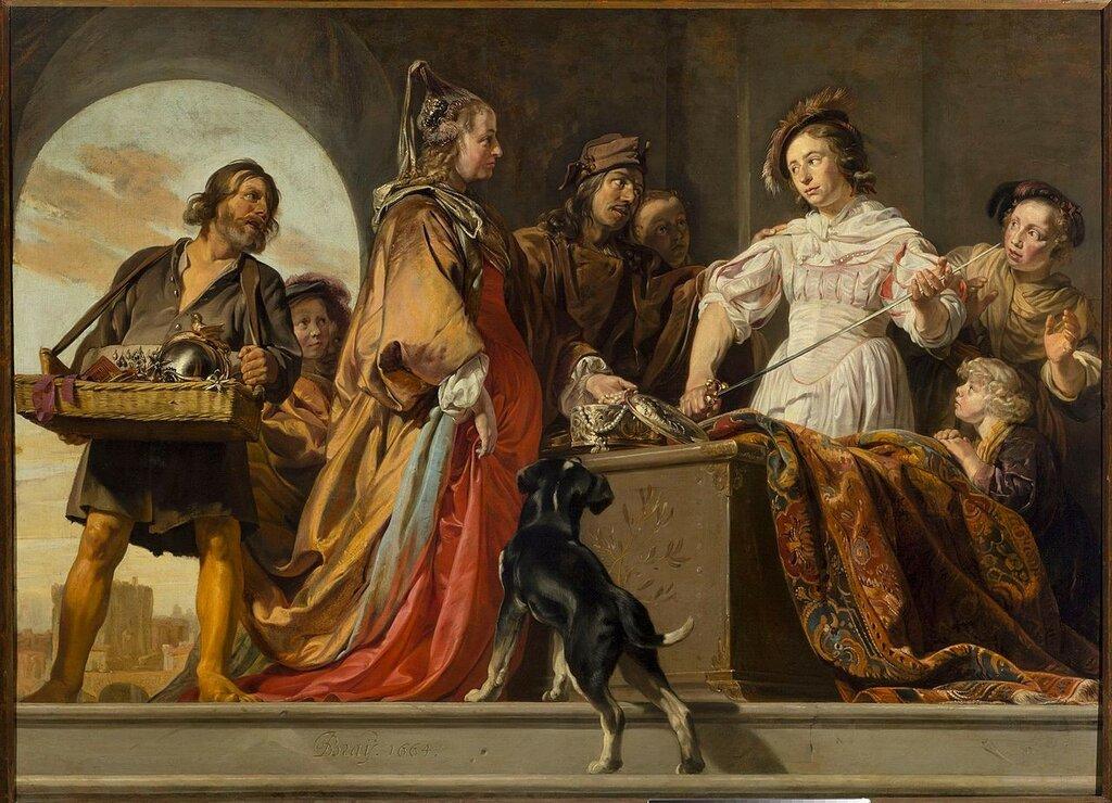 Jan_de_Bray,_Achilles_wśród_córek_Likomedesa_(Owidiusz,_Metamorfozy)1664.jpg