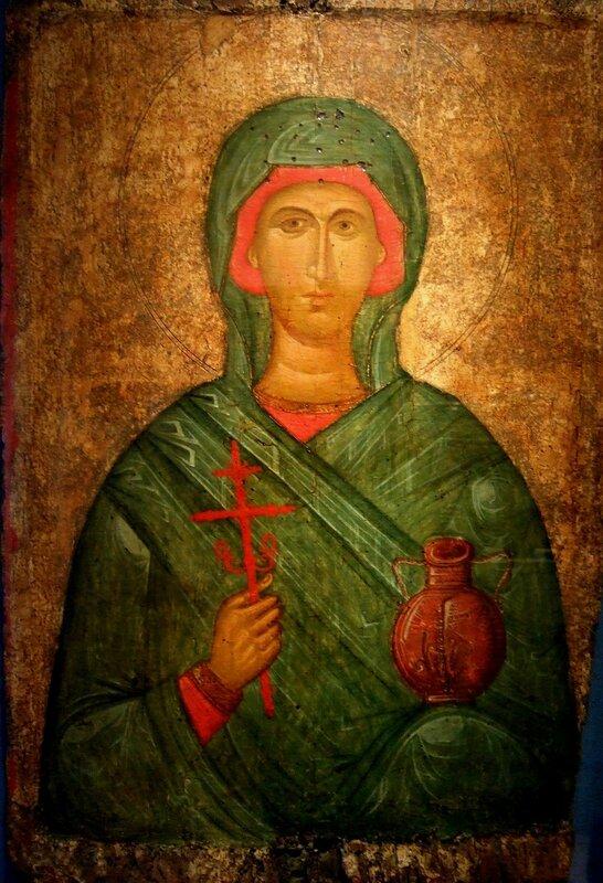 Святая Великомученица Анастасия Узорешительница. Икона. Византия, начало XV века.