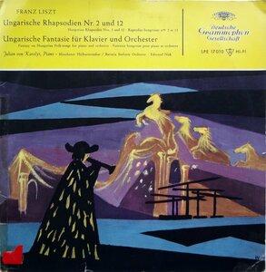 Franz Liszt. Ungarische Rhapsodien & Fantasie (1957) [Deutsche Grammophon, LPE 17 010]