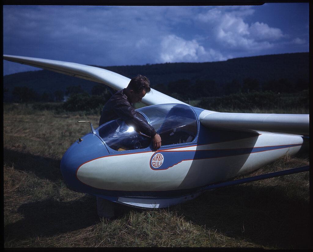 Kirby Gull Sailplane, possibly Elmira, or the Catskills, NY, circa 1938