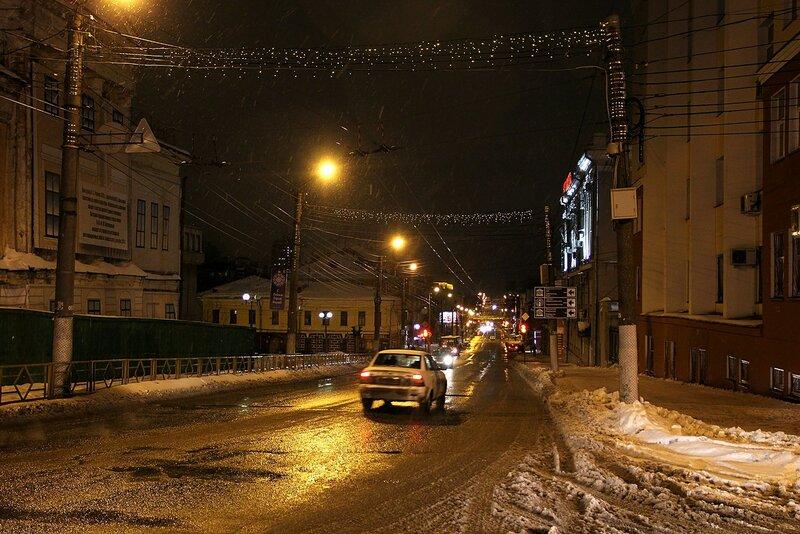 улица Карла Маркса в ночном освещении