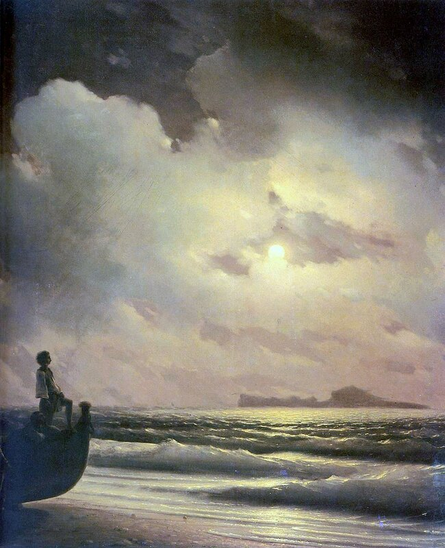 Айвазовский. Лунная ночь. Капри (фрагмент).jpg