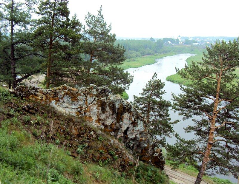 Вид на реку Чусовая