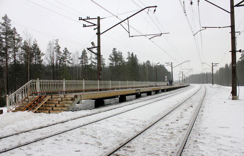 Платформа Лемболово, Перегон Васкелово - Орехово