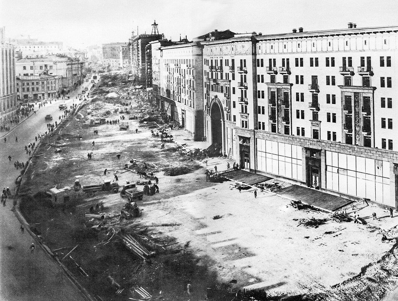 16. Расширение улицы Горького около 1934-36 года