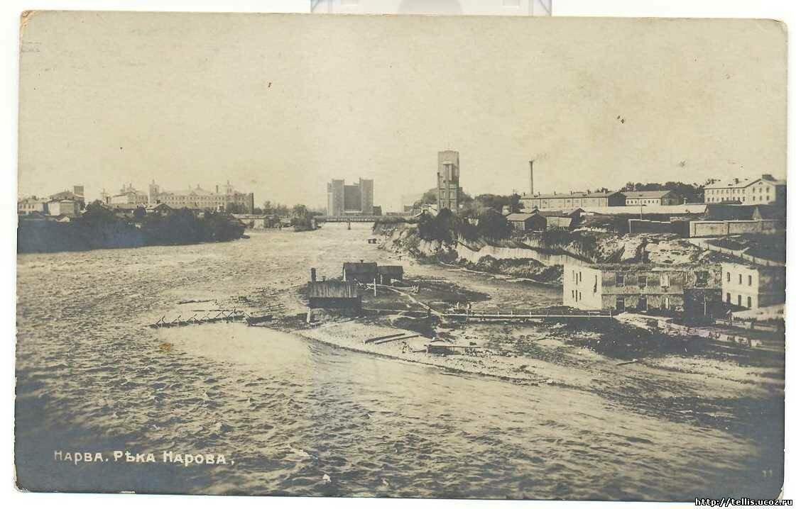 Вид на кренгольмские фабрики и посёлок с севера