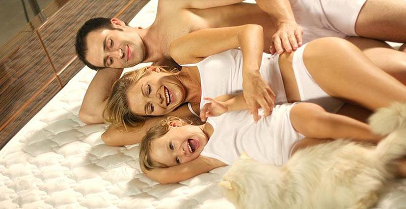 семейный отдых на качественном матрасе