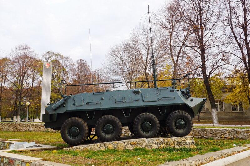 КШМ Р-145БМ «Чайка». Памятники на территории бывшего Рязанского военного училища (сейчас автомобильный факультет  воздушно-десантного училища)