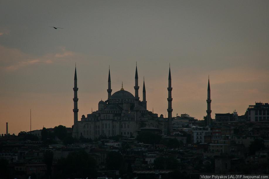 Стамбул. Султанахмет вечером