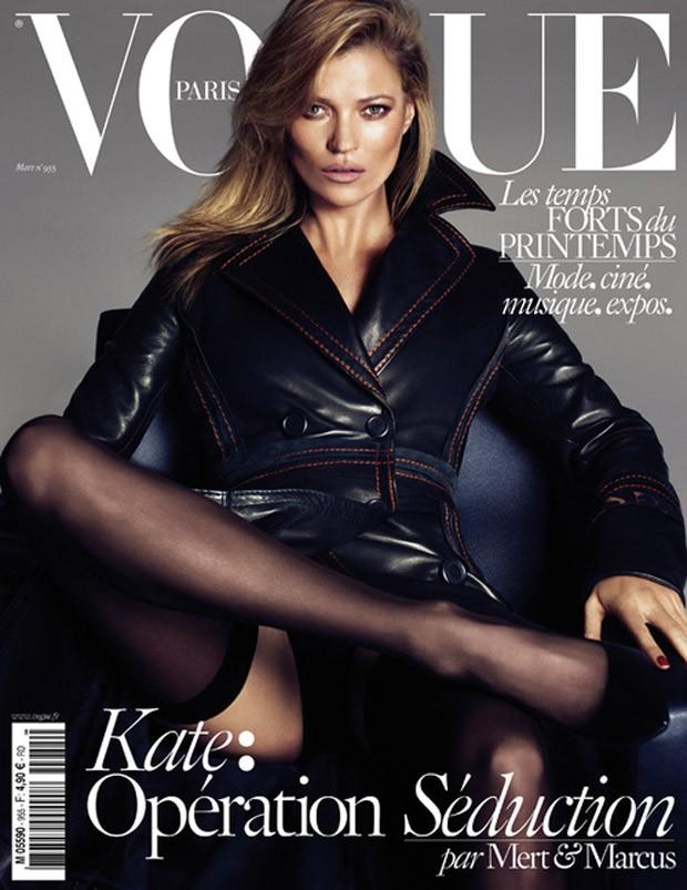 Дарья Вербова (Daria Werbowy), Лара Стоун (Lara Stone) и Кейт Мосс (Kate Moss) в журнале Vogue Paris (3 фото)